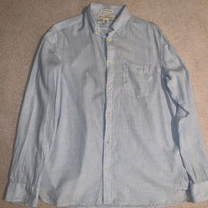 H&M Regular Fit Blue Button Up